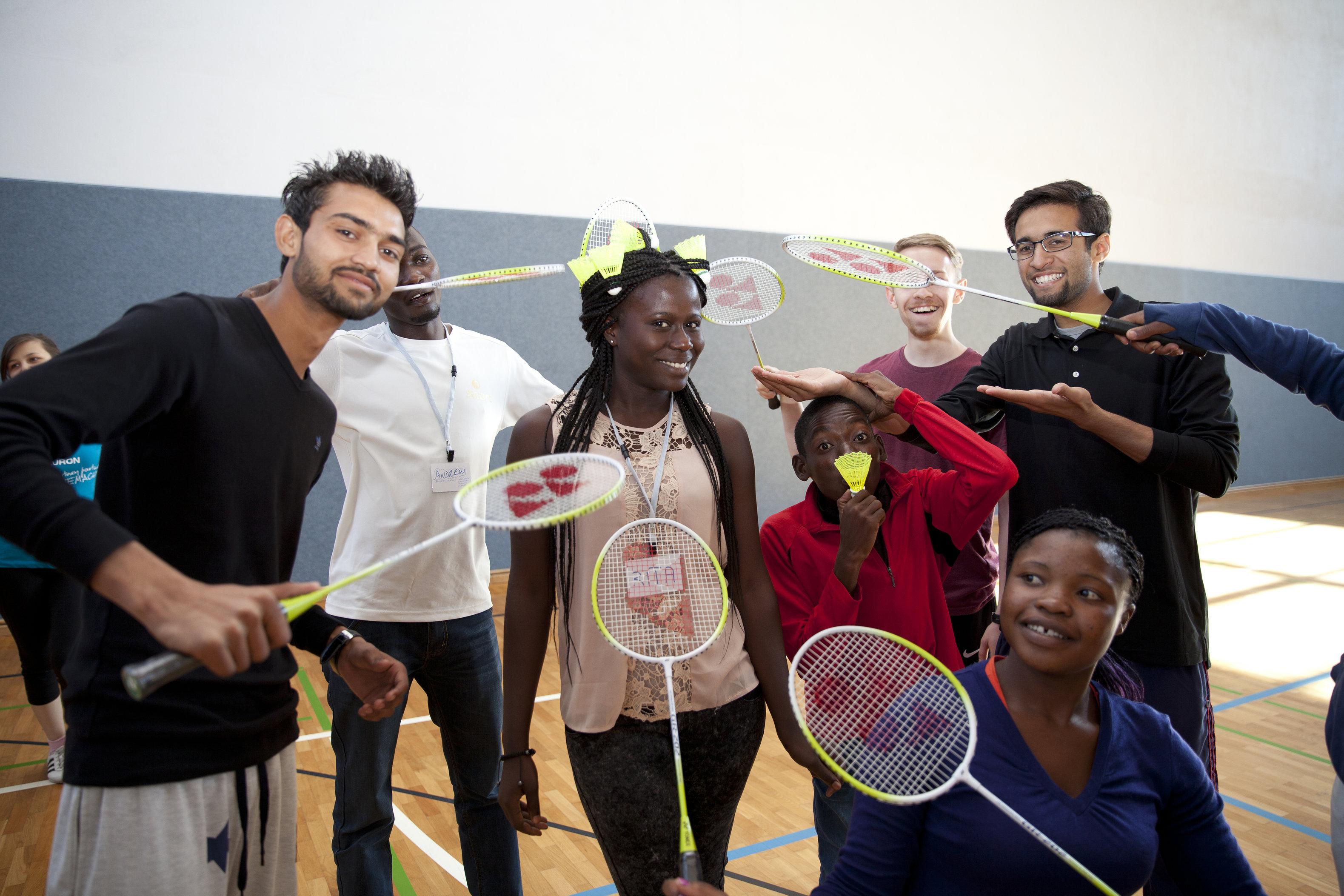 Badminton World Federation. Shuttle Time. Youth Leadership Camp (YLC) organized by UNOSDP and GIZ. Berlin 2015. (c) Esteve Franquesa.